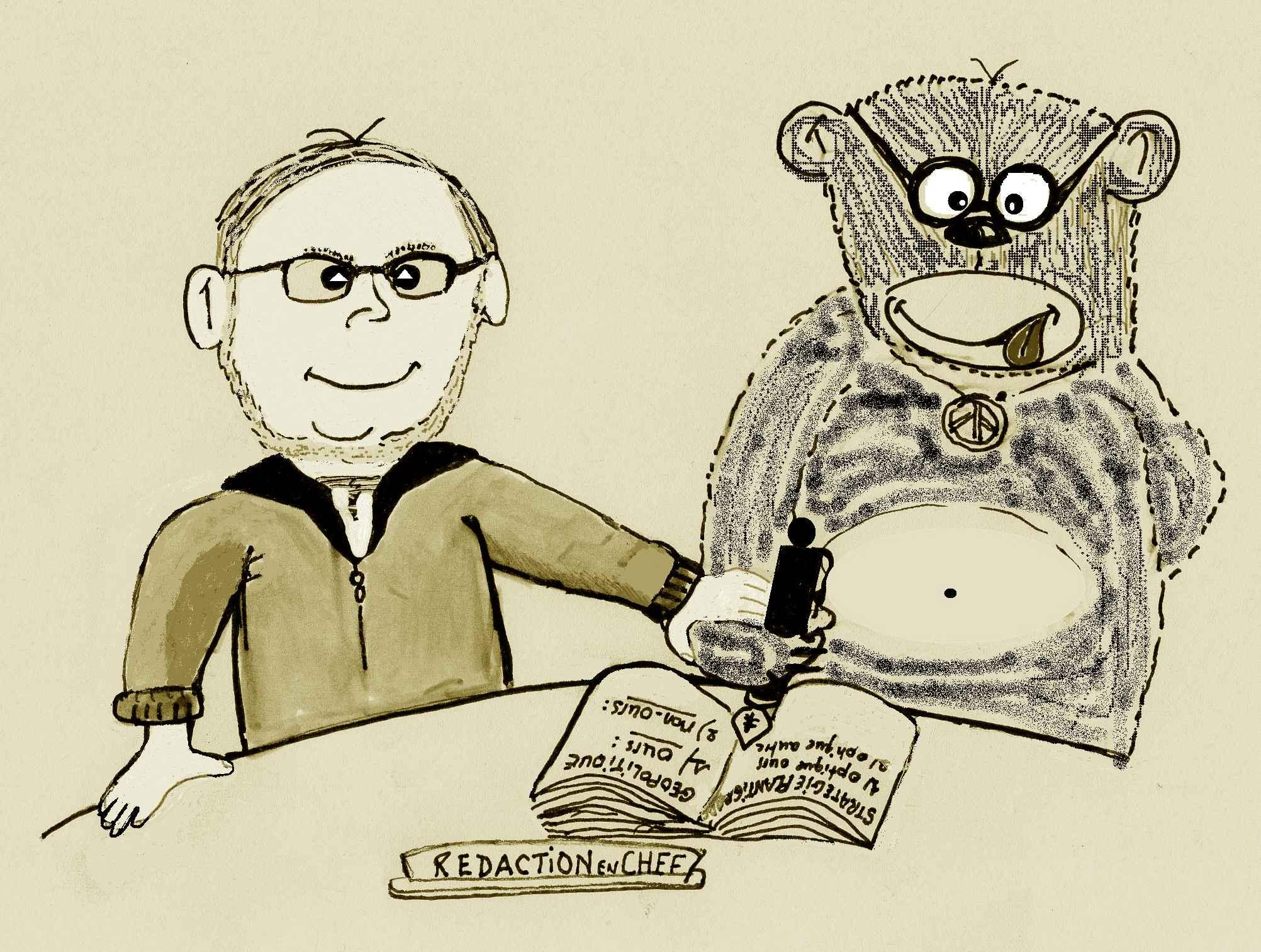 La rédaction-ourson et moi, au temps de la liberté